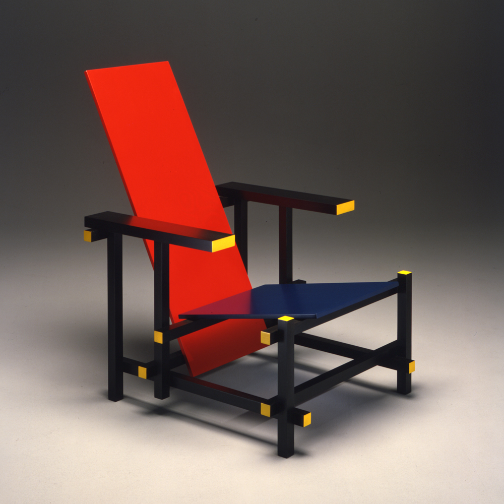 Cassina Red And Blue Gerrit Thomas Rietveld