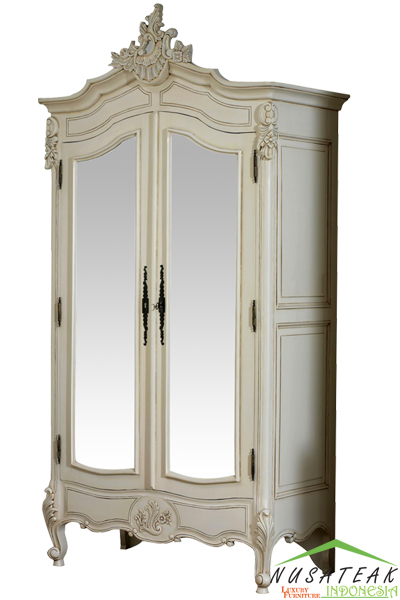 Uluwatu French Style Carved Wardrobe - Nusa Teak