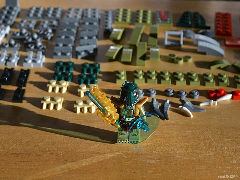lego chima legend beast crocodile - cragger and the knolled bricks