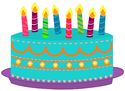 Clip Art Of Birthday Cake With Candles : Classroom Treasures: Birthday Cake Clipart