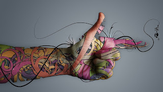 Body painting through tattoos