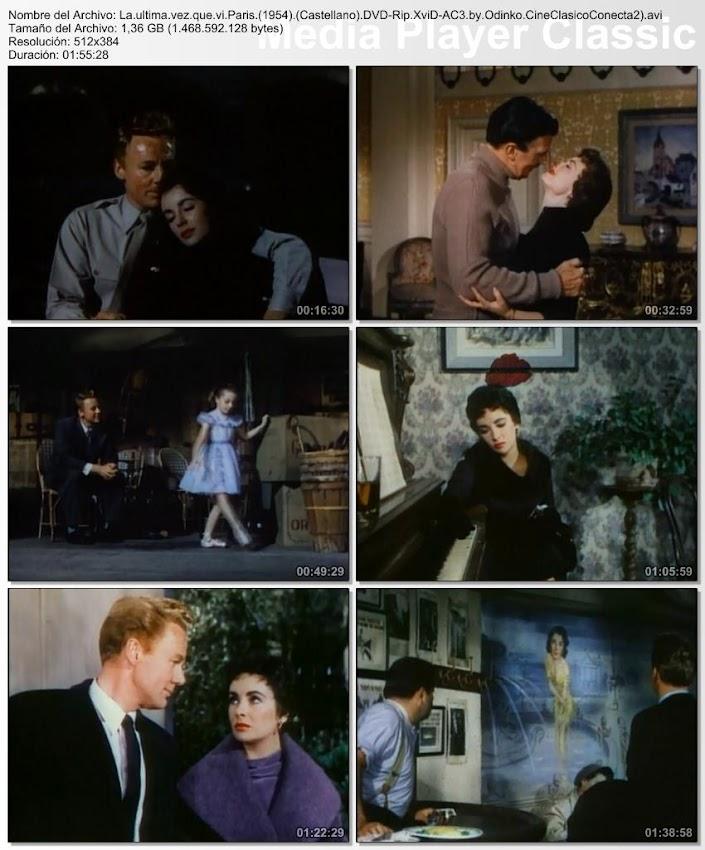 Imagenes de la película, La última vez que vi París | 1954 | The Last Time I Saw Paris