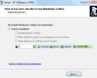 Rimuovere la Babylon toolbar