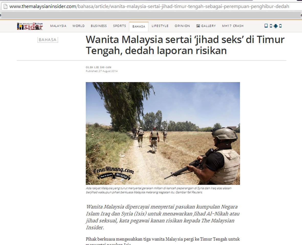 JIHAD SEKS PDRM NAFI DEDAHKAN MAKLUMAT RISIKAN KEPADA PORTAL THE MALAYSIA INSIDER