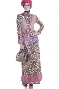 Esme Gamis E-010414 - Coklat Pink Kombinasi (Toko Jilbab dan Busana Muslimah Terbaru)