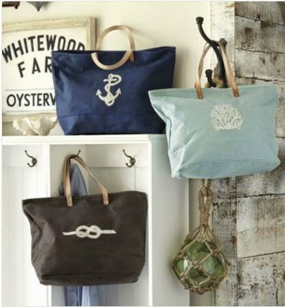 Ballard Designs Nautical Icon Tote