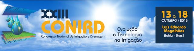XXIII Congresso Nacional de Irrigação e Drenagem (CONIRD 2013)