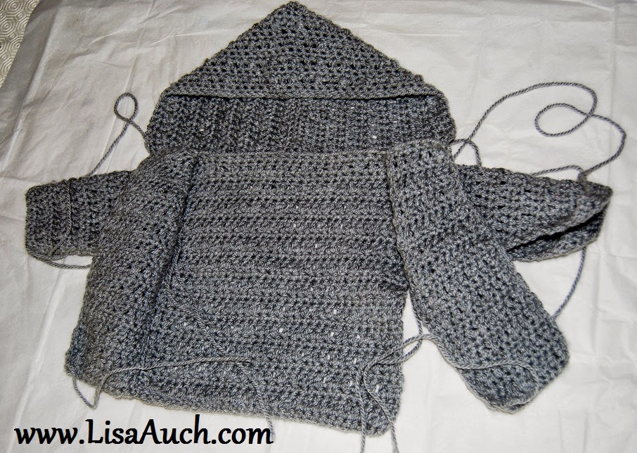 Crochet Baby Boy Cardigan pattern with hood (Easy Hooded ...