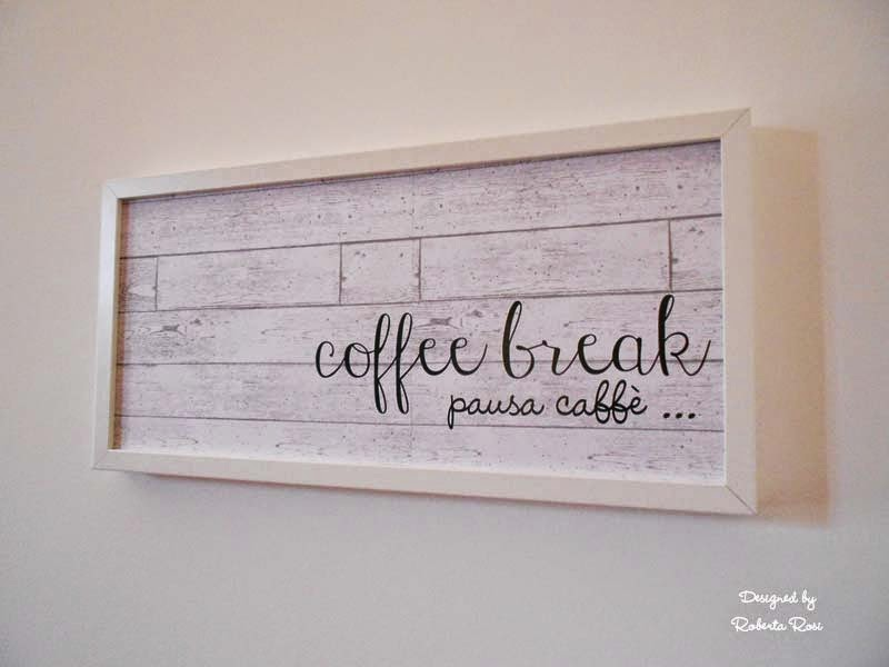 SRM Stickers Blog - Coffee Break Wall Art by Roberta - #vinyl #homedecor