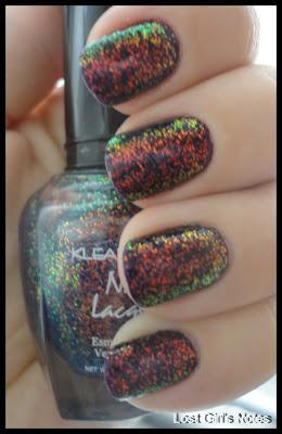 kleancolor bluebell chunky holo nail polish