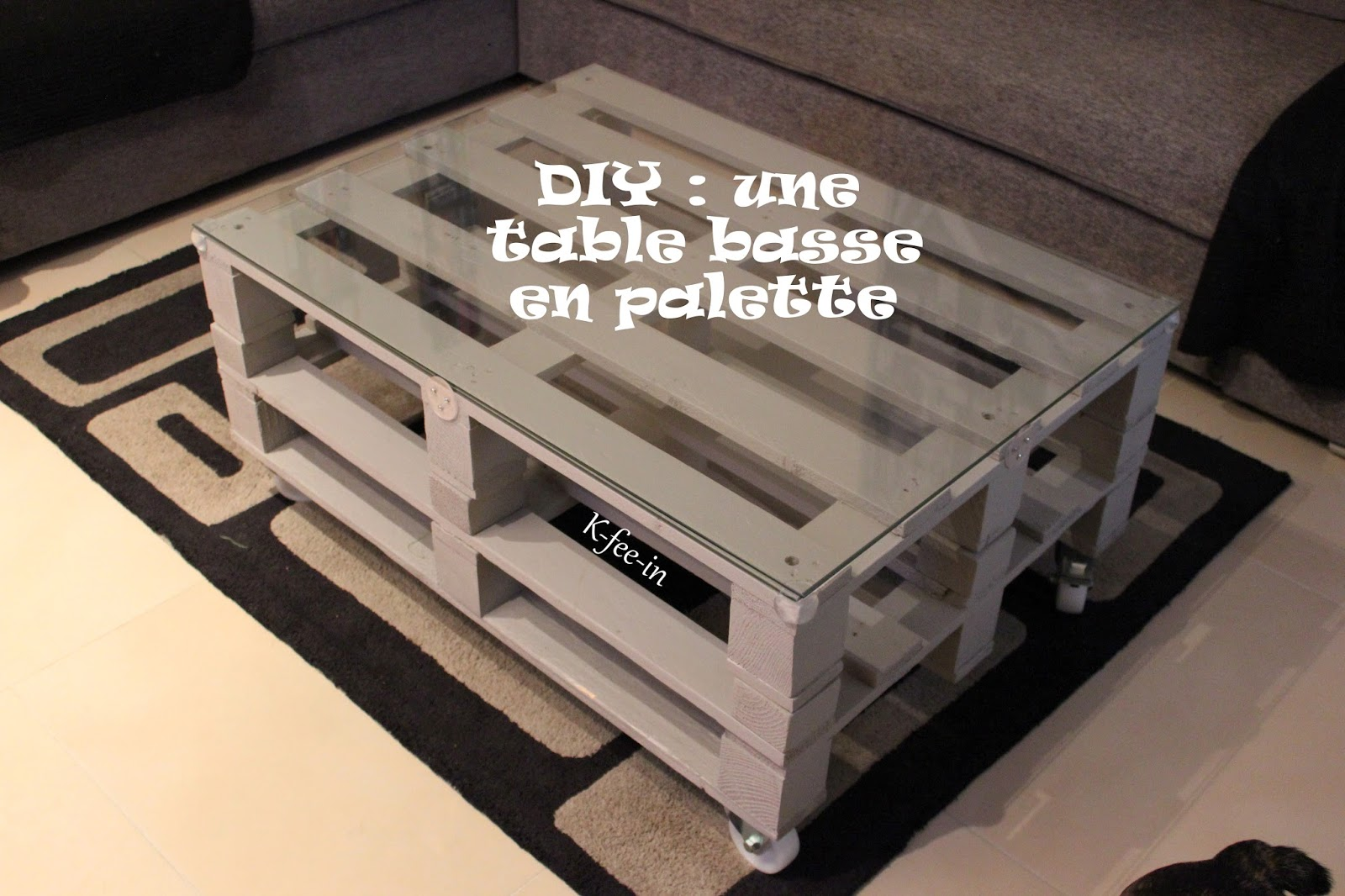 Diy une table basse en palette mini bonheur - Table basse fabrication maison ...