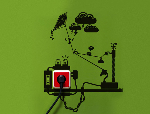 Adesivos divertidos lembram sobre a importância de economizar energia