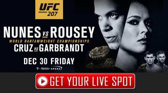 Nunes vs Rousey Live