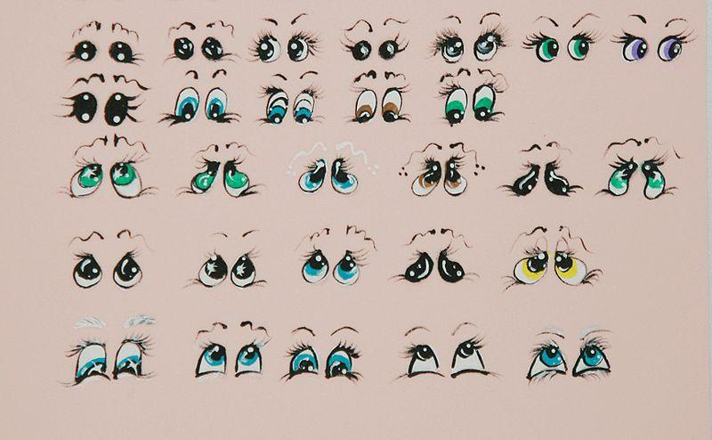 Ojos de muñeca para imprimir - Imagui