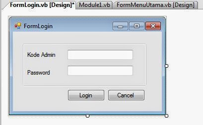 Cara Membuat Form Login VB Net 2005
