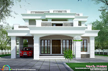 2813 Sq-ft Flat Roof Box Type Home - Kerala Design