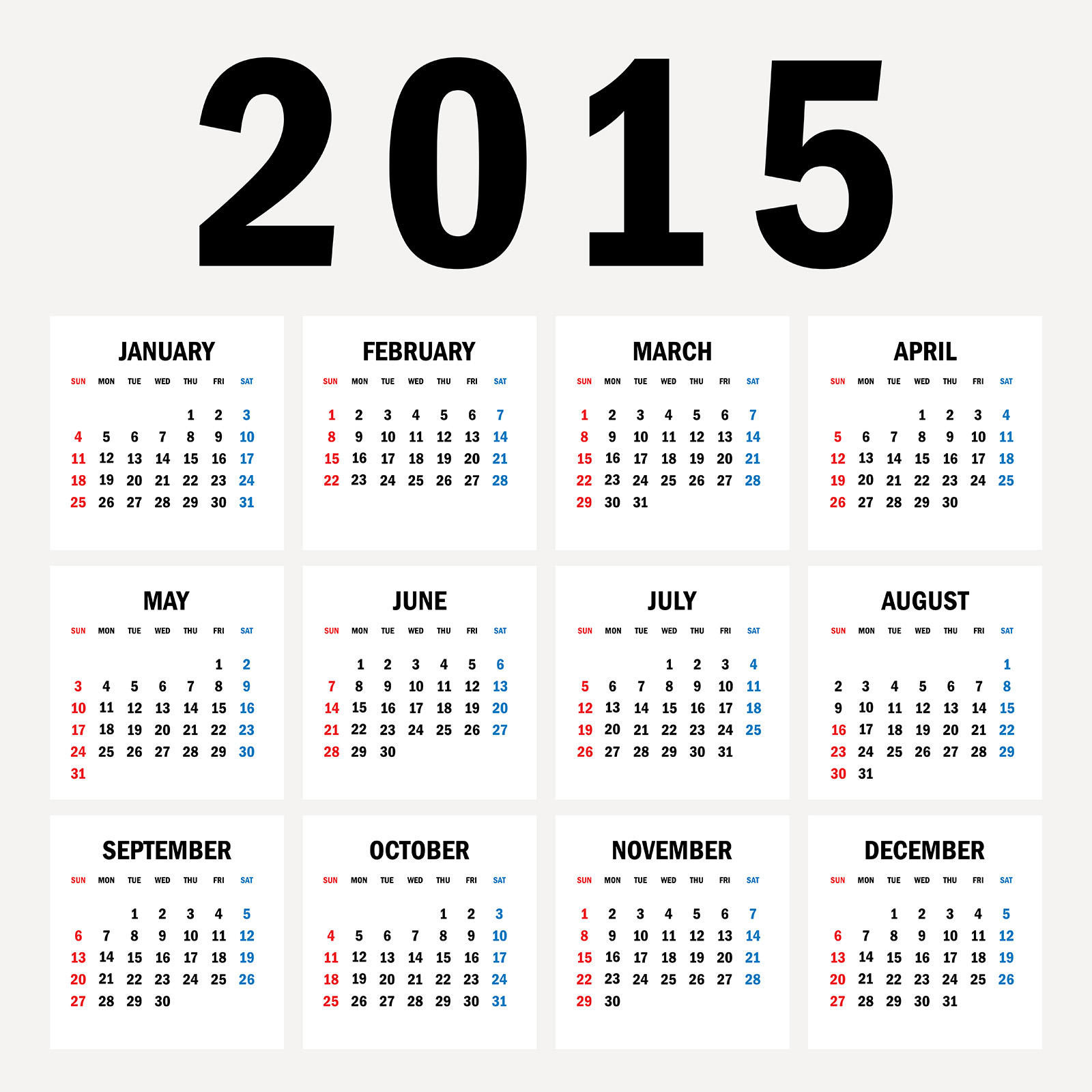 2015 カレンダー無料 ...