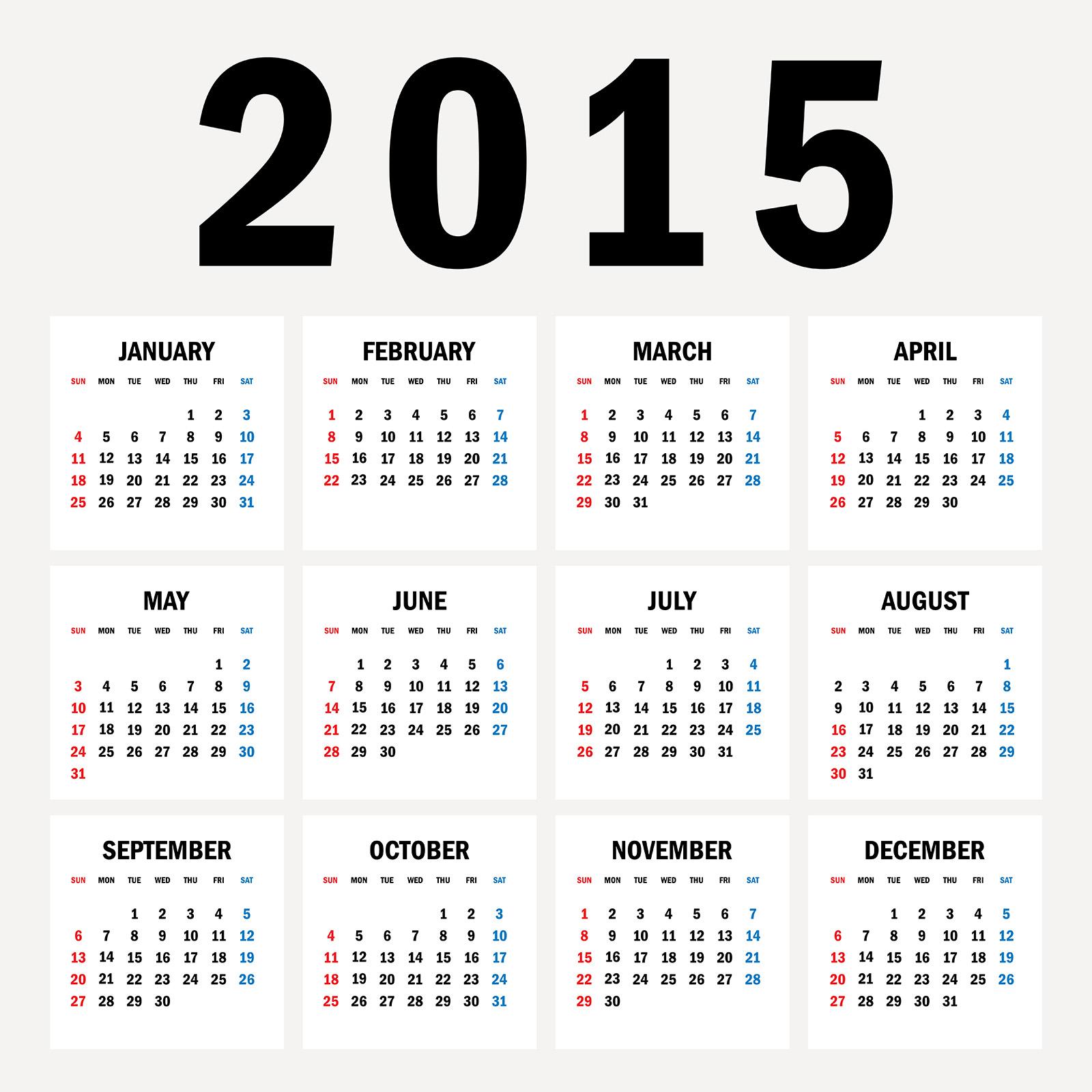 7087 × 7087 pixels 2015カレンダー