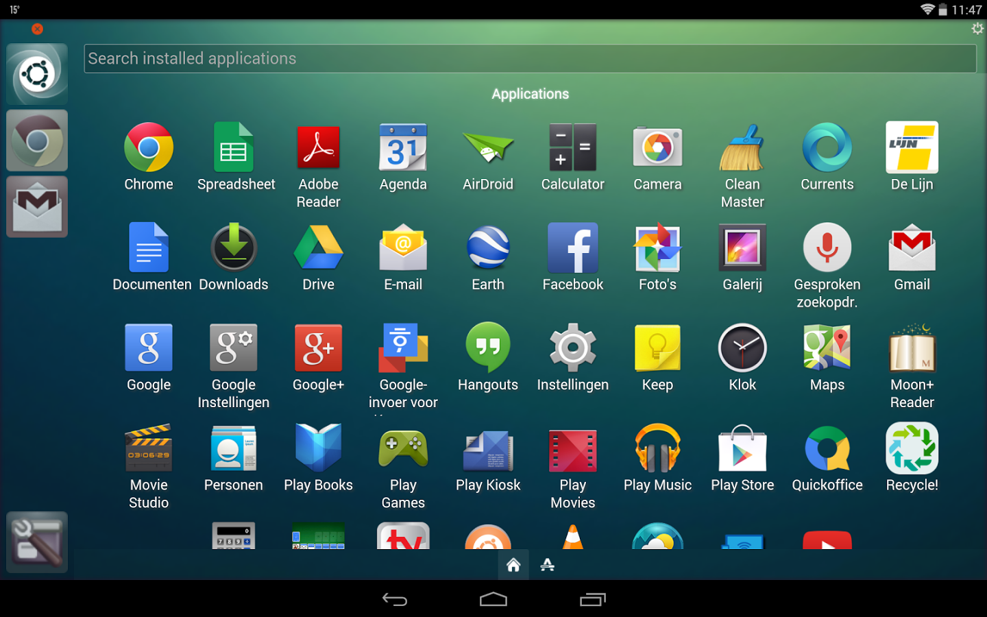 Ubuntu Launcher : Absolute Unity flavor to the Android system
