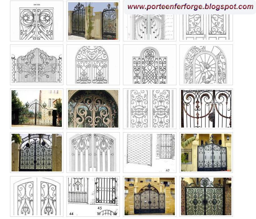 Portail fer forg collection de photos de portails en fer for Port fer forge 2013