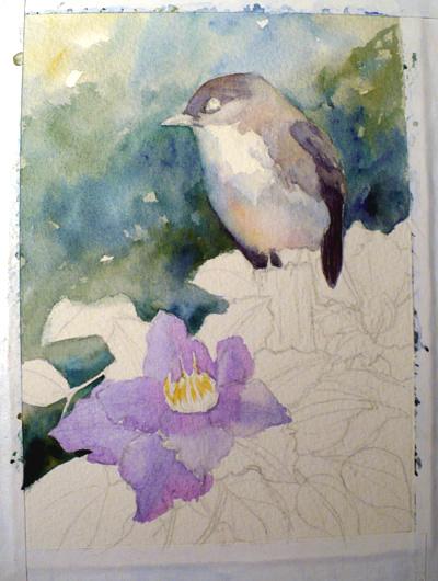 phoebe painting in progress