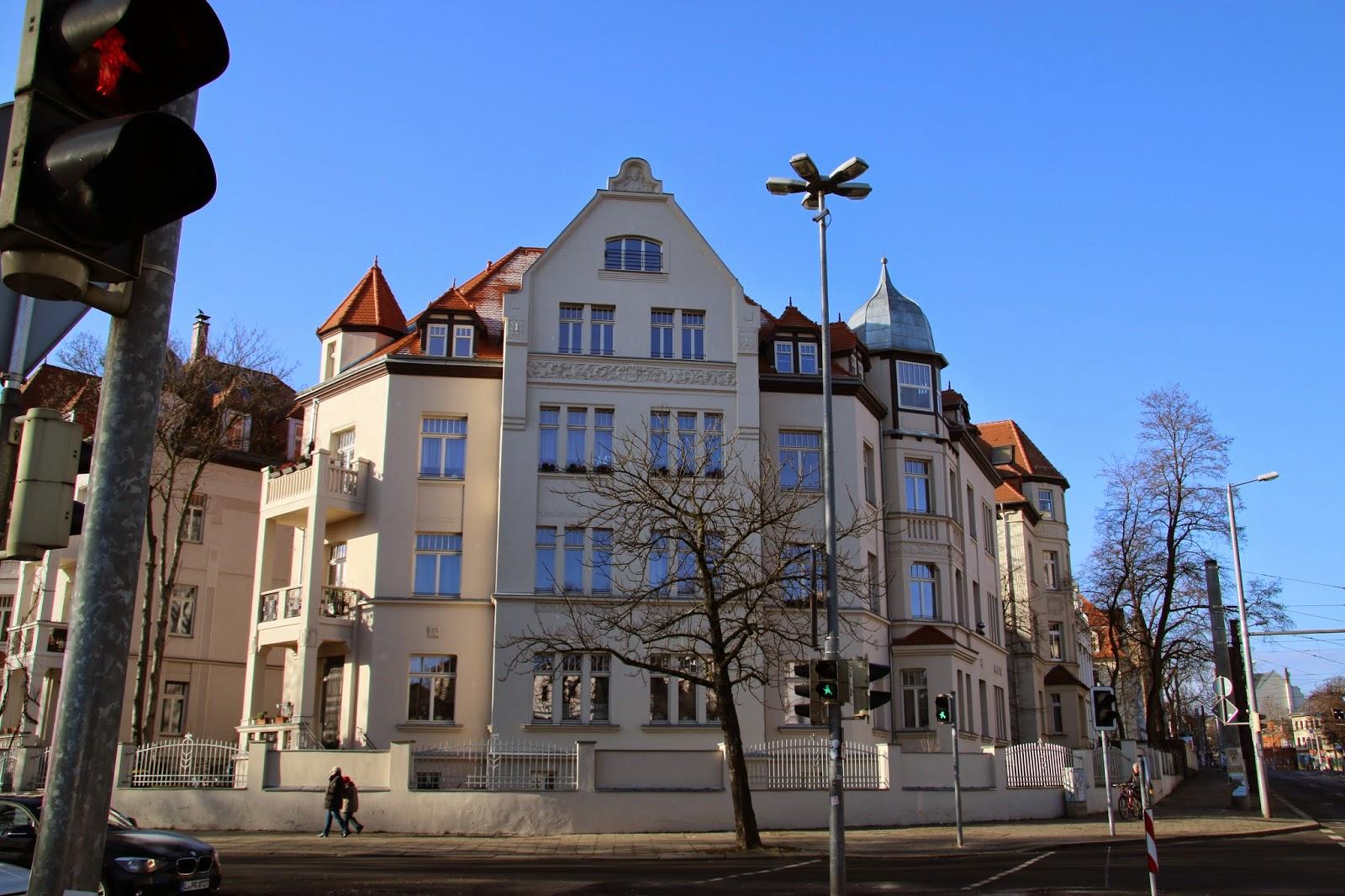 """Die Villa """"Elisabeth"""" im Stadtteil Plagwitz ist eine Jugendstilvilla, welche 1909 erbaut wurde"""