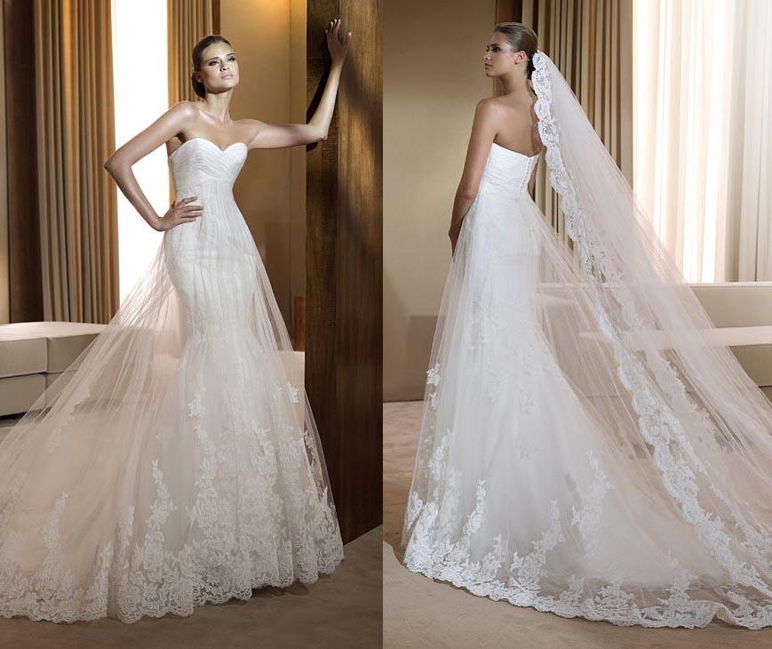 Free knitting pattern wedding dress models