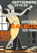 BALBOA EN SEPTIEMBRE PARA LOCOS POR EL SWING  EN MÁLAGA EN BSD MÁLAGA CENTRO.