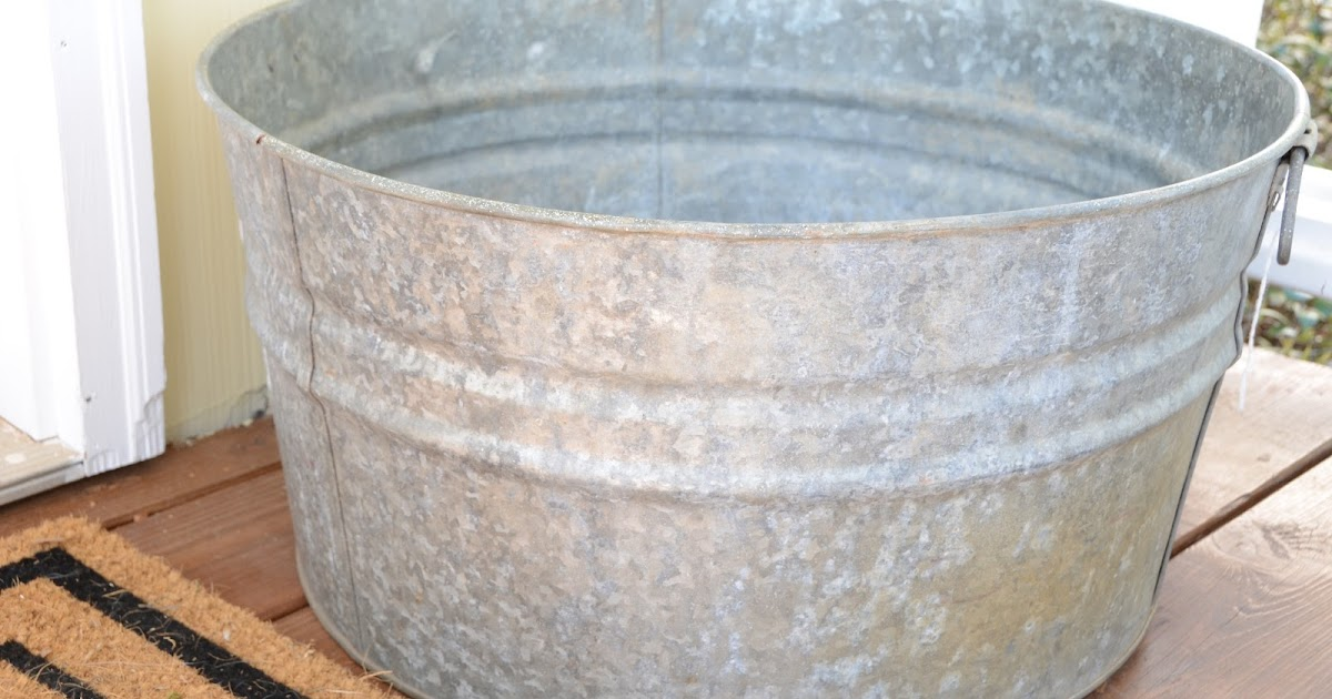 iron twine galvanized tub