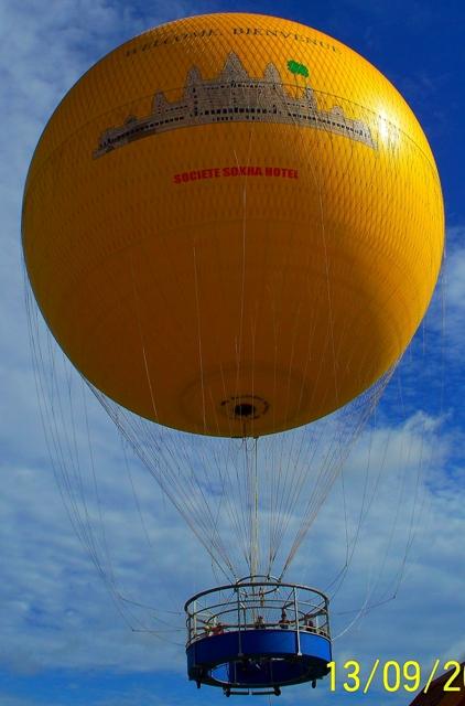 El globo aerostático para ver Angkor Wat
