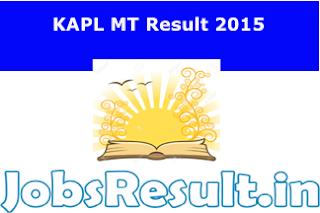 KAPL MT Result 2015