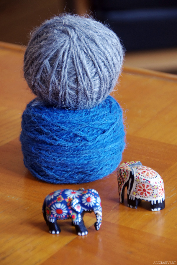 aliciasivert, alicia sivert, alicia sivertsson, garn, yarn, träelefanter, elefant, elephants