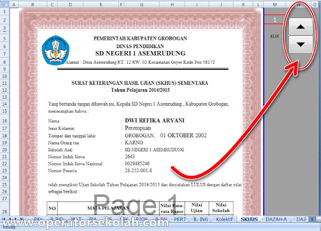 Aplikasi Rekap Nilai SKHUS IJASAH SD Tahun 2014-2015