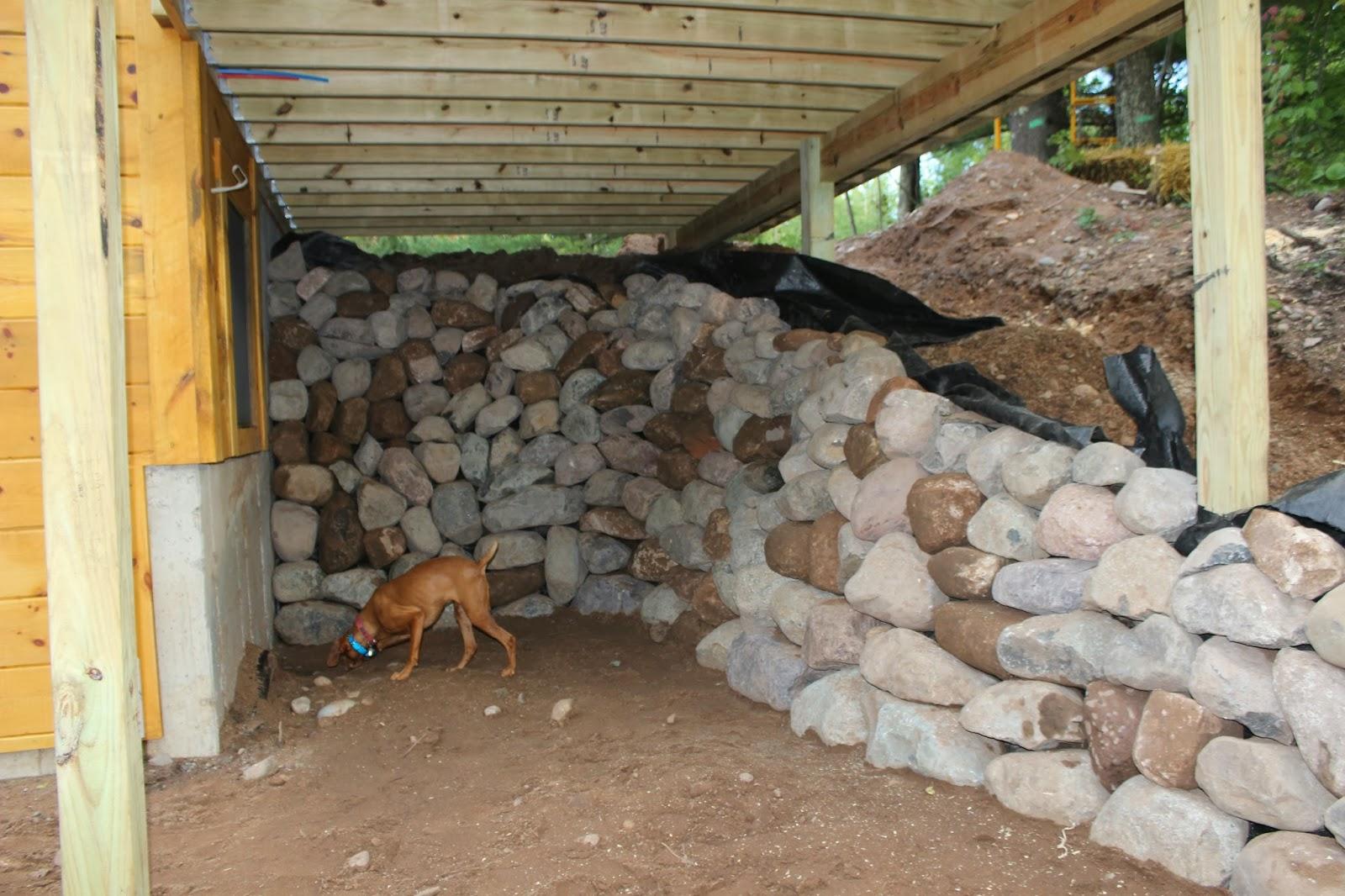 Through a forest wilderness september 2013 for Walkout basement retaining walls