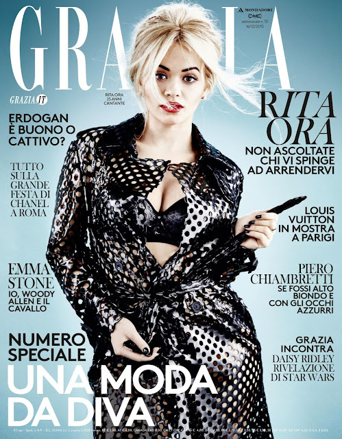 Actress, Singer, @ Rita Ora - Grazia Italy, Dicembre 2015
