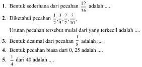Soal Matematika SD Kelas 6 - Latihan Semester 2