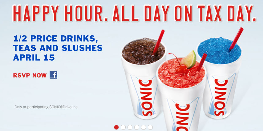 Drive In Brings Back All Day Happy Hour for Tax Day  Fast Food Geek