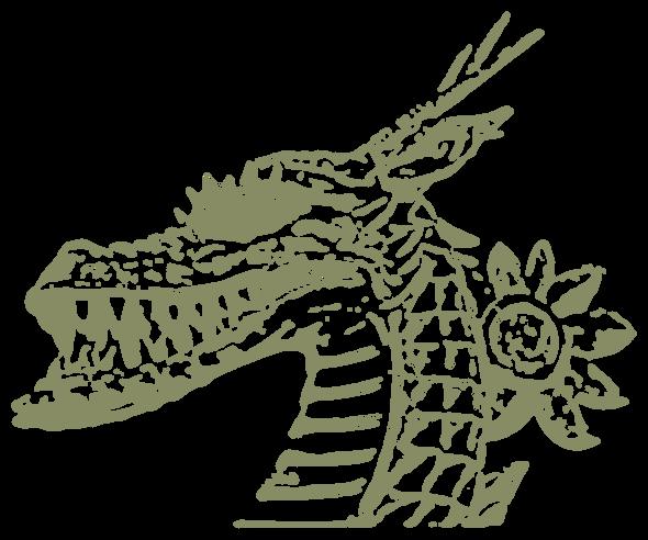 龍・辰年・横顔(年賀状)