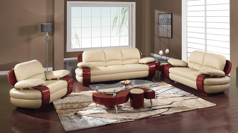 Leather Sofa Set Designs (11 Image)