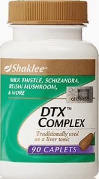 kelebihan dan kebaikan dtx complex shaklee