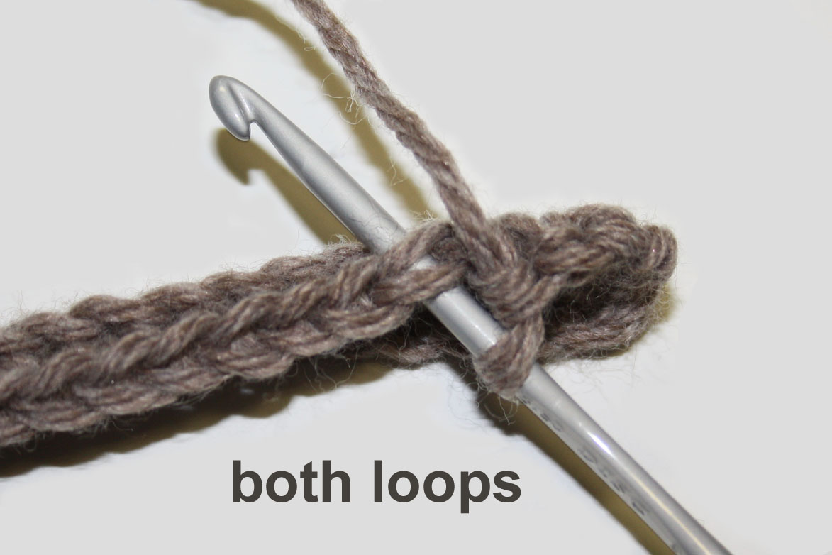Crocheting In Back Loops Only : ... ?cute design shop: how to crochet in the back or front loops only
