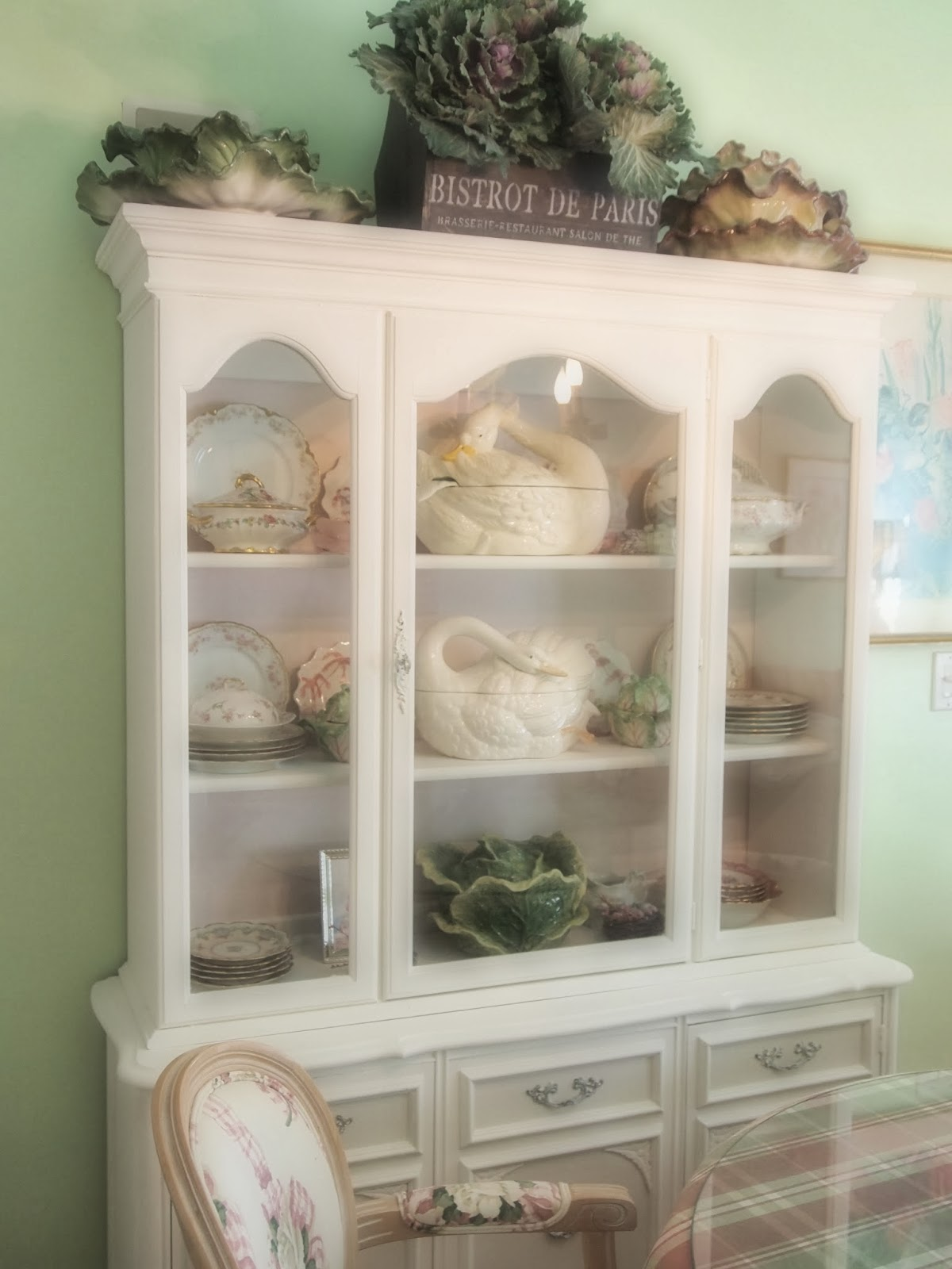A Friend Spotted This Great China Cabinet At A Local Antiques Mall. I Had  It Delivered And It Was An Off White. Pink Boy Repainted It For Me In Annie  Sloan ...