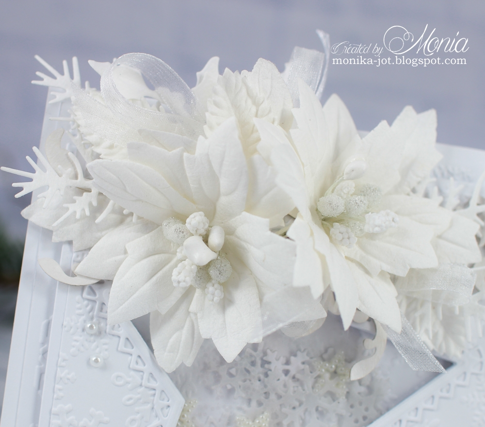 Wild Orchid Crafts White Christmas Card