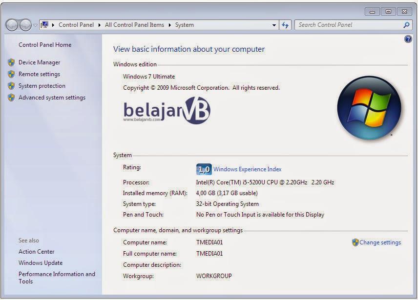 Memunculkan Computer Name dan IP Address VB .Net