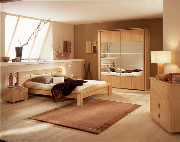 Bedroom Furniture with Light Brown Paint Color Ideas