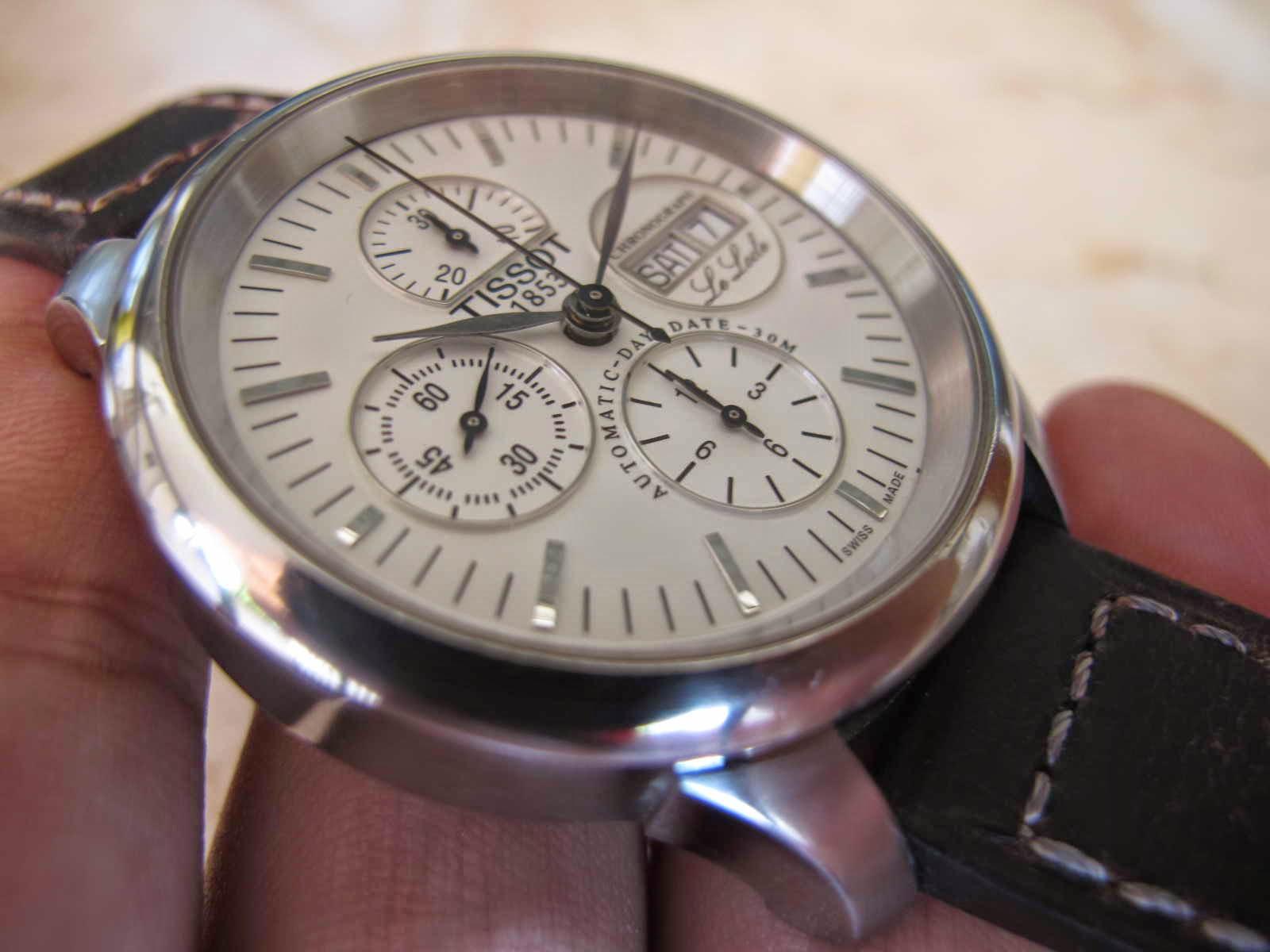Kondisi TISSOT LE LOCLE Chronograph ini SUPERB cocok untuk Anda yang sedang mencari jam tangan Swiss made Chronograph dengan model classis dan sekaligus
