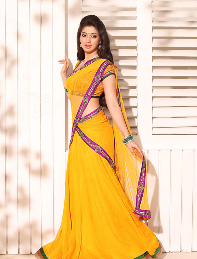 Lakshmi rai latest yellow saree awesome photos no …