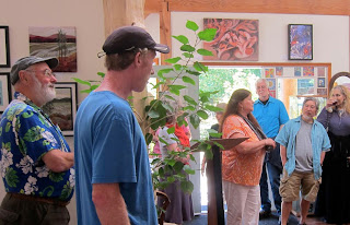 Tish Saunders, Opening reception, Saturna Art Show, Insight Gallery, Galiano