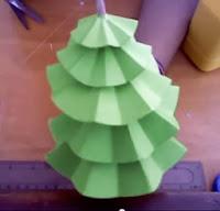 arbol de papel navideño