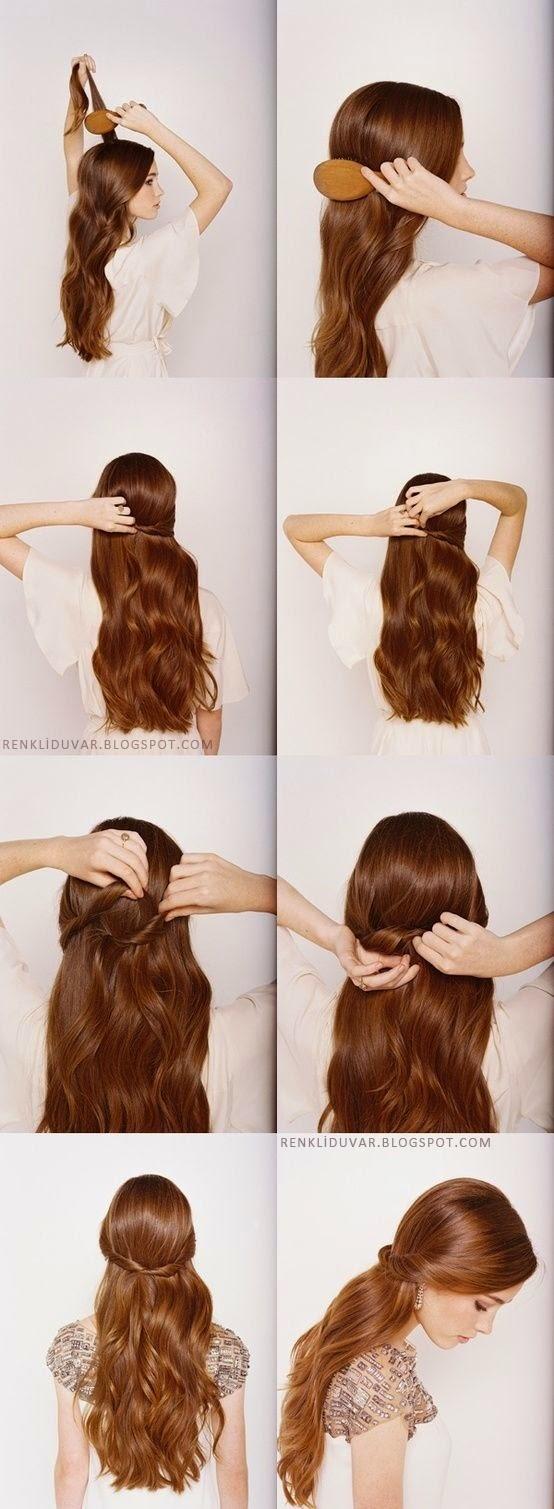 Прически для длинных волос в домашних условиях на день рождения фото